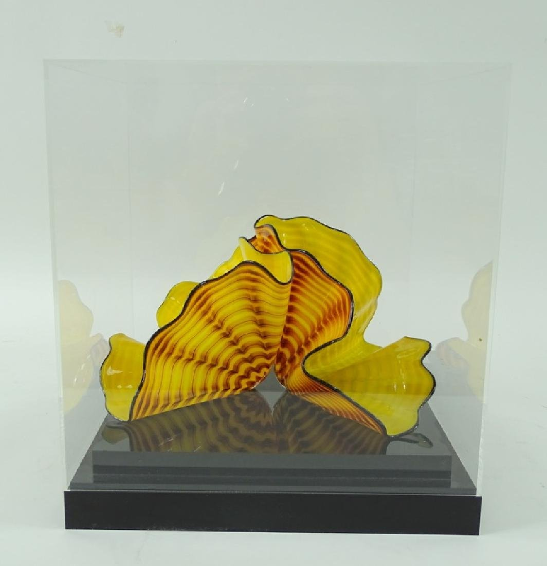 Dale Chihuly Radiant Yellow Persian Art Glass - 9
