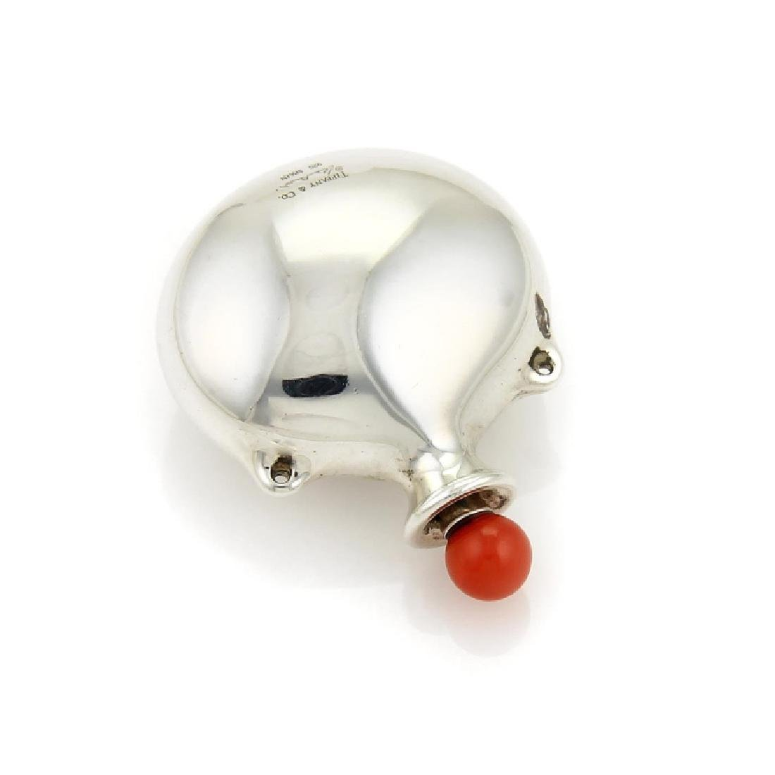 Tiffany & Co. Sterling Coral Snuff Bottle Pendant - 3