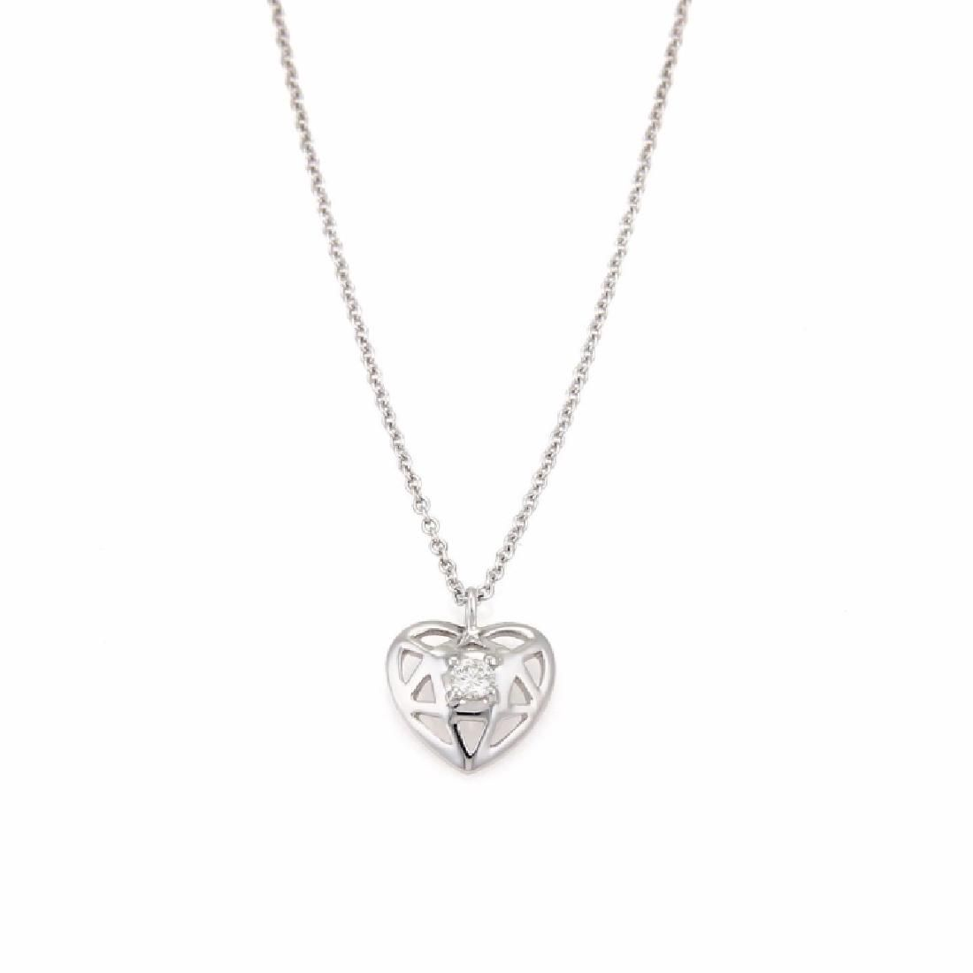 Tiffany & Co Picasso 18k White Gold Heart Necklace