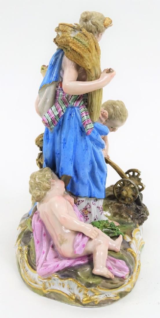 Antique Meissen German Porcelain Figural Grouping - 3
