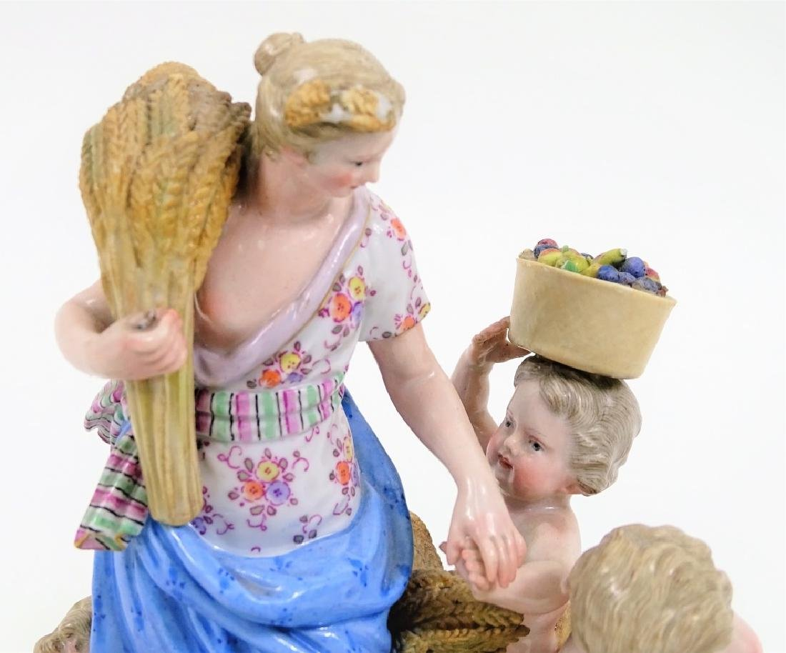 Antique Meissen German Porcelain Figural Grouping - 6