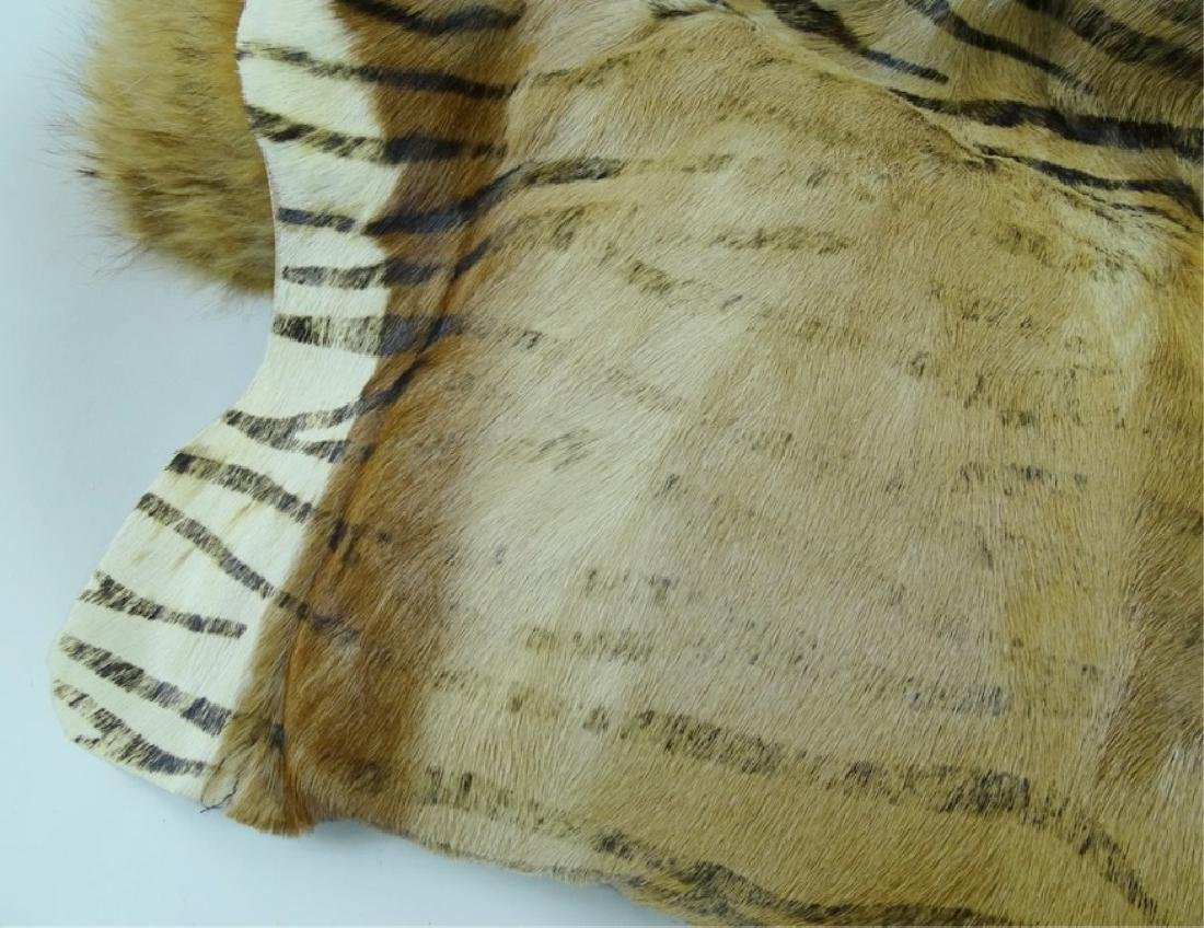(3) Three Vintage African Furr Zebra Pillows - 3