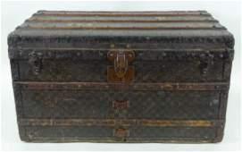 Antique Louis Vuitton Checker Damier Steamer Trunk