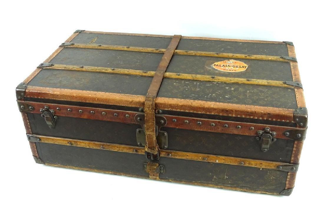 Antique Louis Vuitton Monogram Comp Steamer Trunk - 10