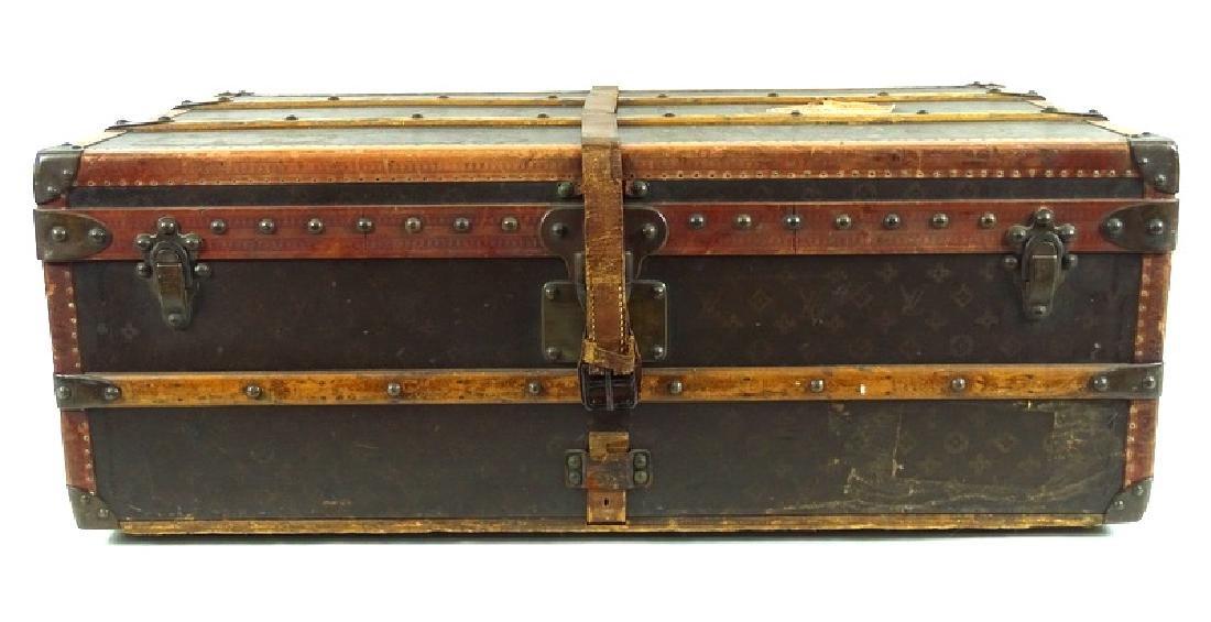 Antique Louis Vuitton Monogram Comp Steamer Trunk