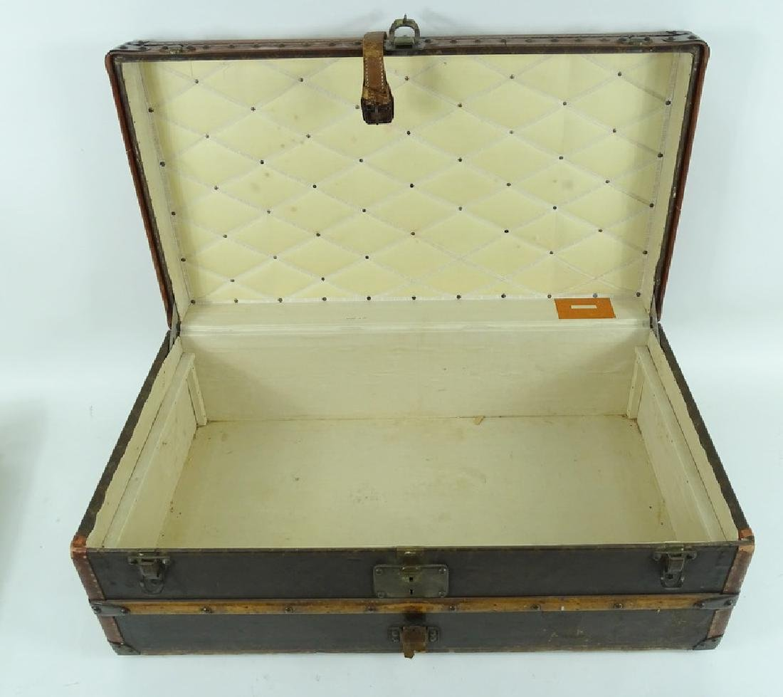 Antique Louis Vuitton Monogram Comp Steamer Trunk - 2