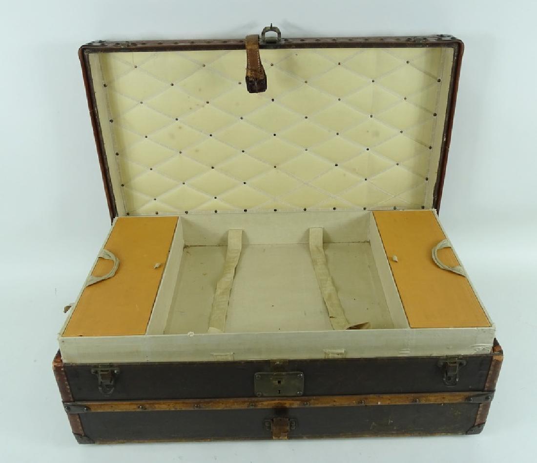 Antique Louis Vuitton Monogram Comp Steamer Trunk - 3