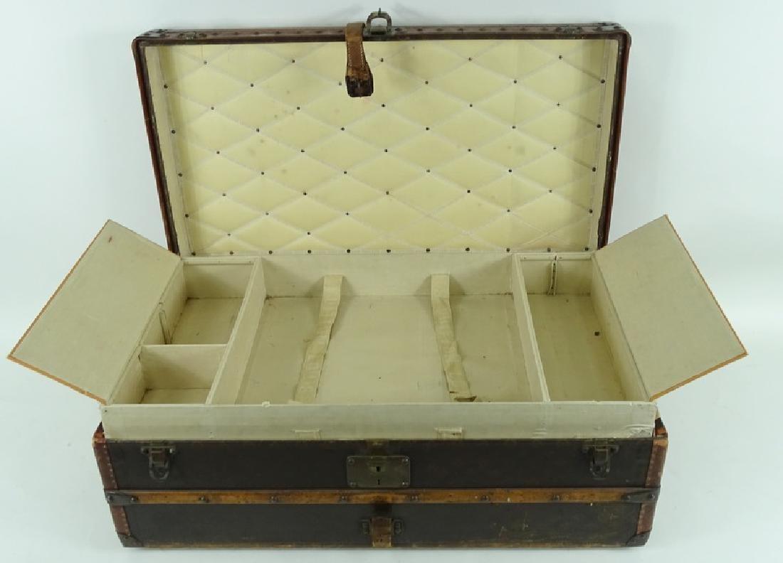 Antique Louis Vuitton Monogram Comp Steamer Trunk - 4