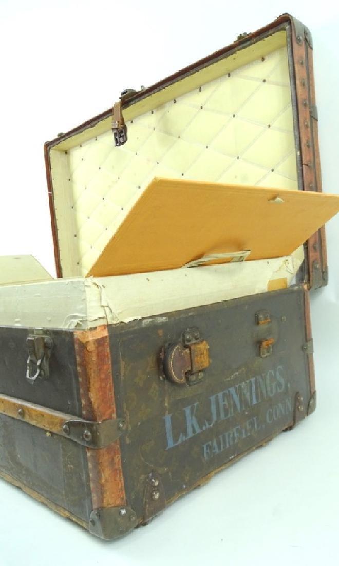 Antique Louis Vuitton Monogram Comp Steamer Trunk - 5