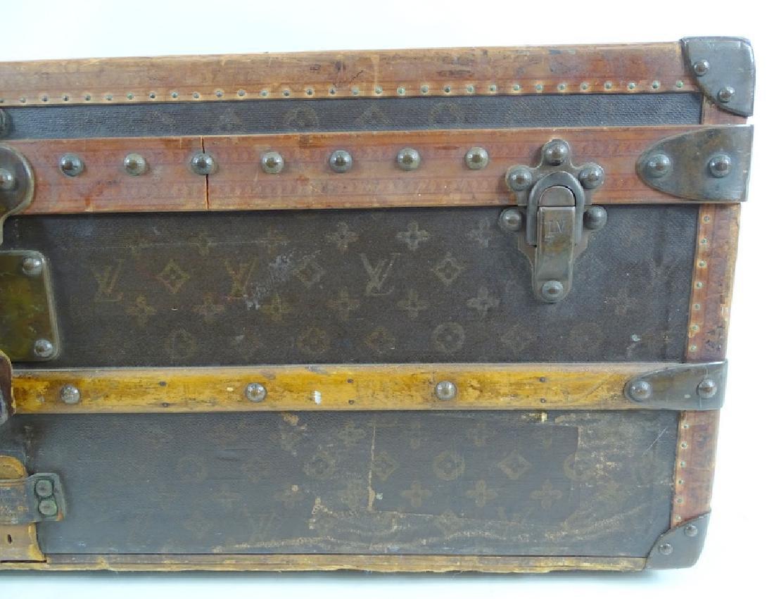 Antique Louis Vuitton Monogram Comp Steamer Trunk - 6