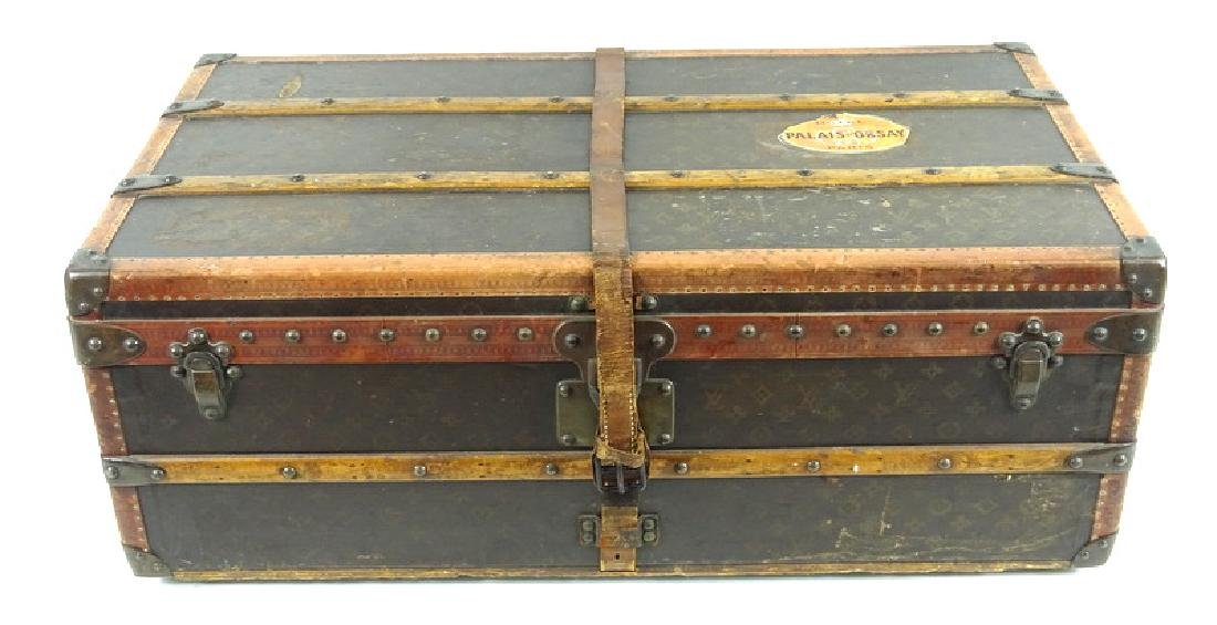 Antique Louis Vuitton Monogram Comp Steamer Trunk - 7