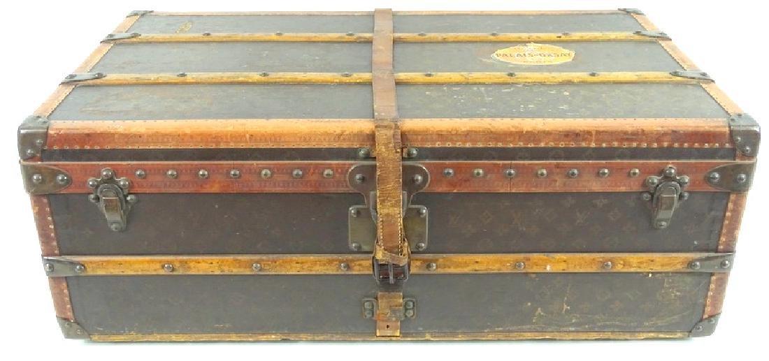 Antique Louis Vuitton Monogram Comp Steamer Trunk - 8