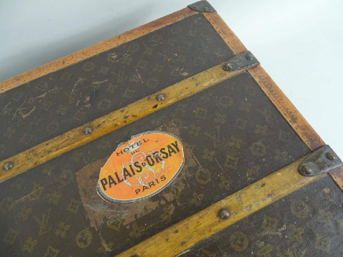 Antique Louis Vuitton Monogram Comp Steamer Trunk - 9