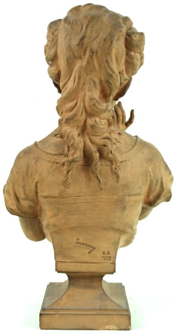 Signed Lecorney French Terracotta Bust Sculpture - 4