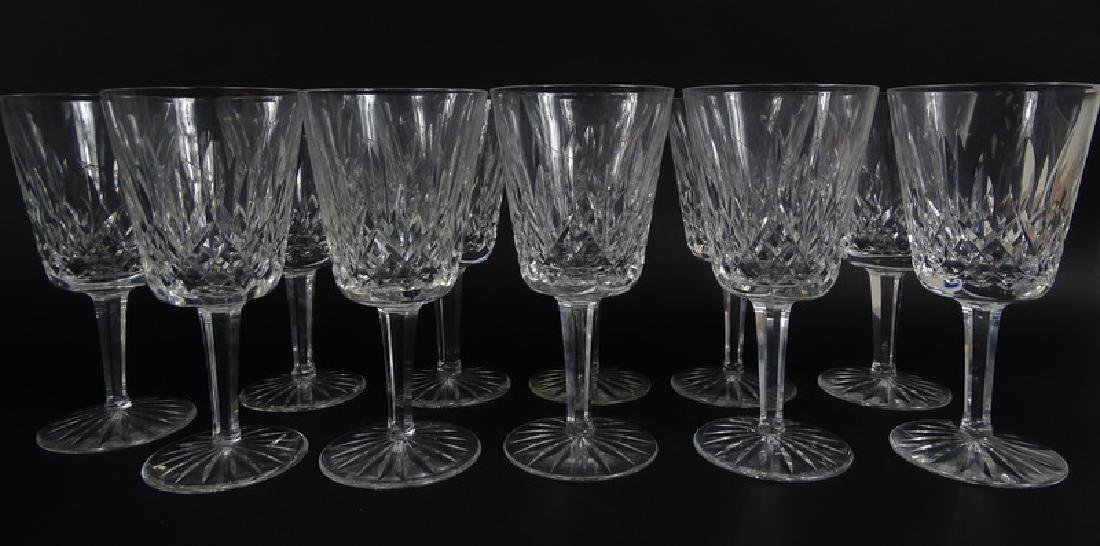 12 Waterford Lismore Cut Crystal Water Goblets
