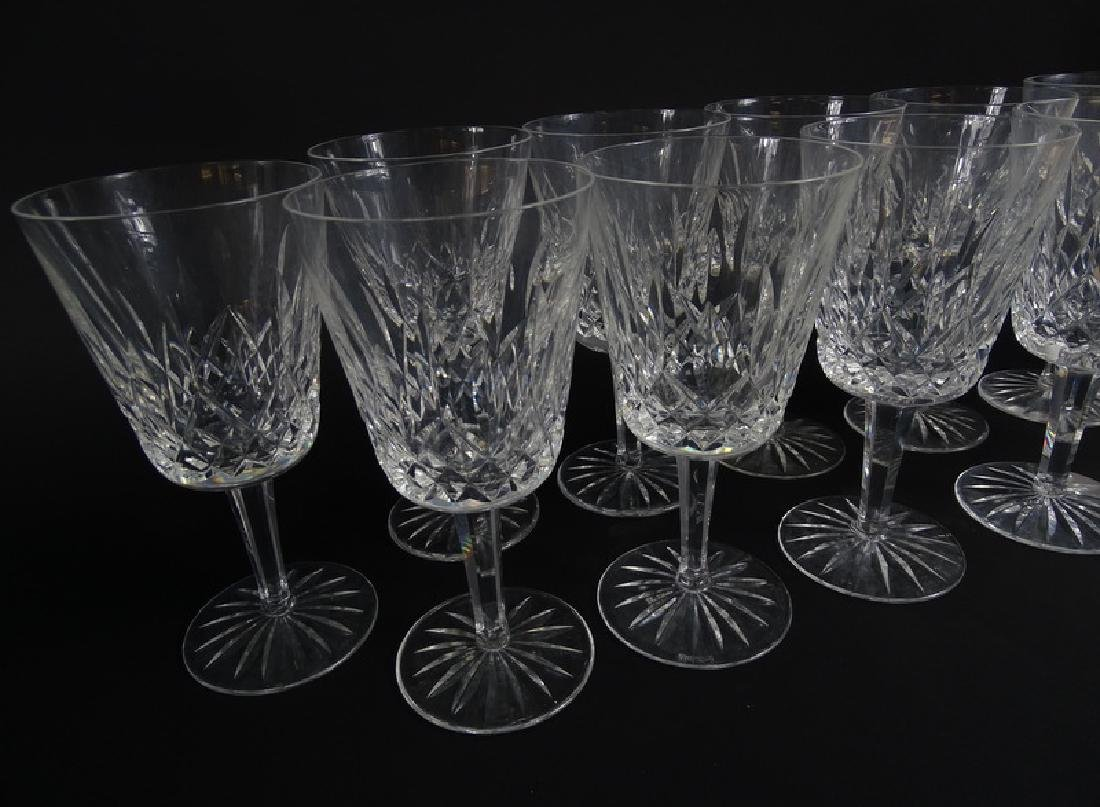 12 Waterford Lismore Cut Crystal Water Goblets - 3