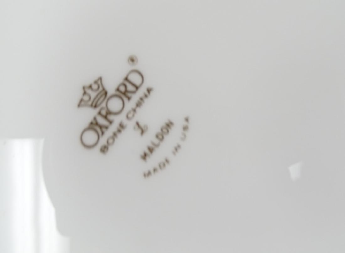 """61 Piece Oxford """"Maldon"""" Gold Trim Bone China Set - 4"""