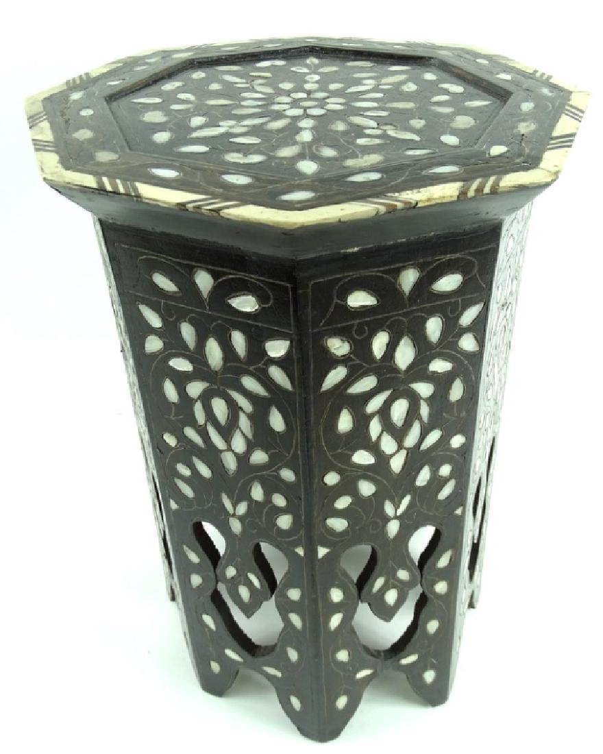 19th/20th C. Mother of Pearl Inlaid Garden Seat