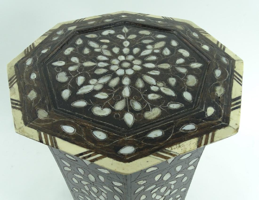 19th/20th C. Mother of Pearl Inlaid Garden Seat - 2