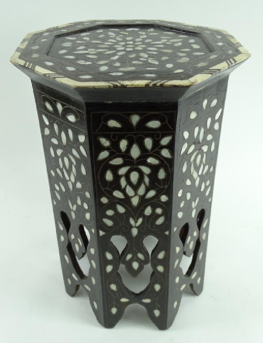 19th/20th C. Mother of Pearl Inlaid Garden Seat - 3