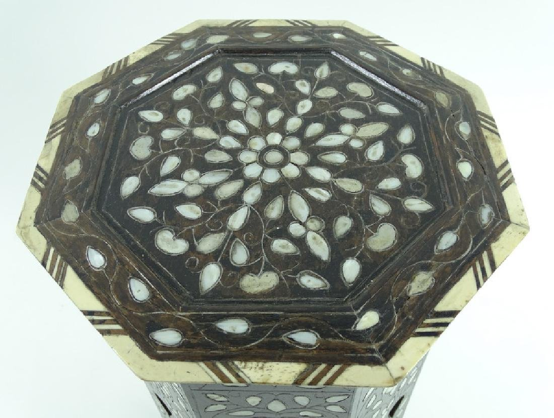 19th/20th C. Mother of Pearl Inlaid Garden Seat - 4