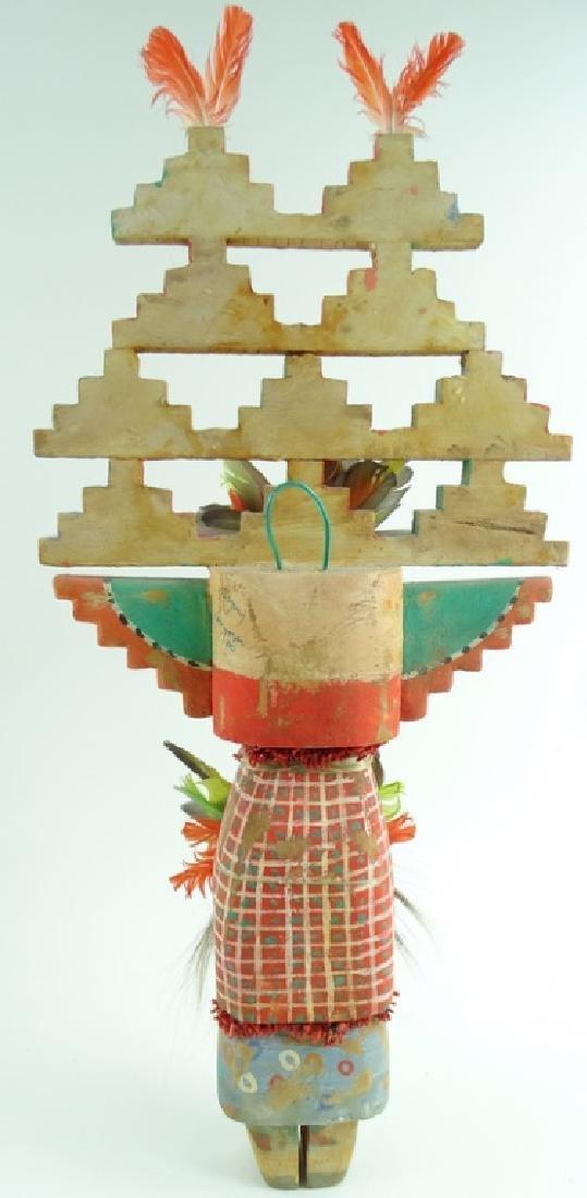 Large Signed Hand Carved Kachina Doll - 4