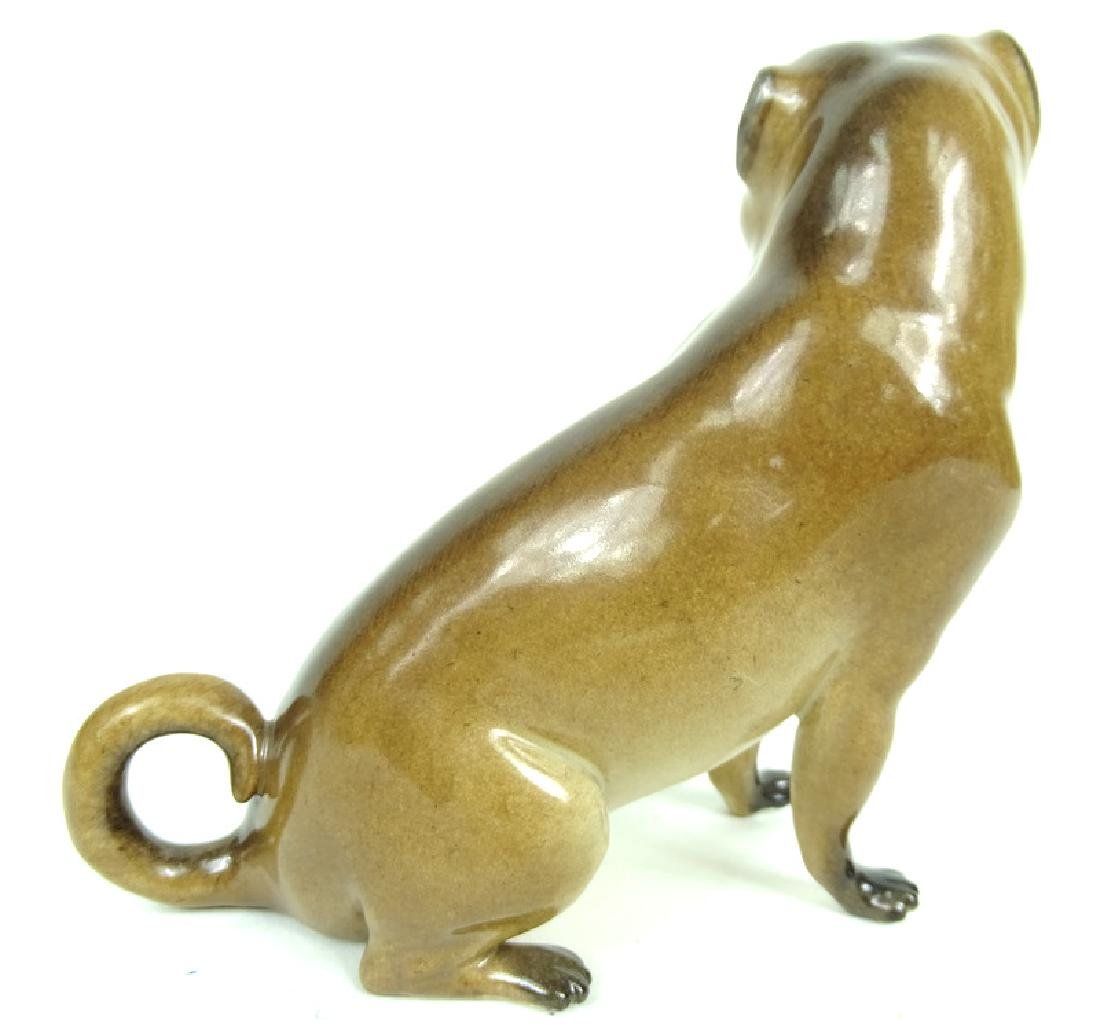 Antique German Meissen HP Porcelain Pug Figurine - 4