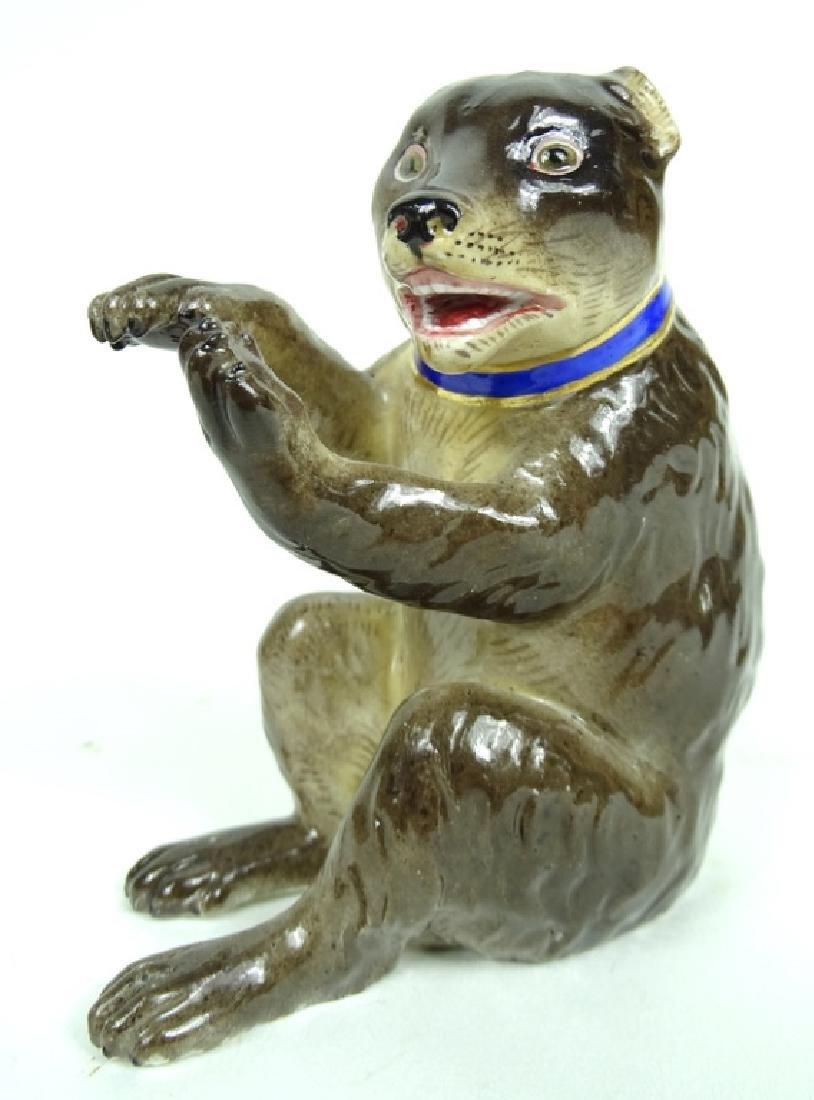 Antique Meissen German Porcelain Bear Figurine