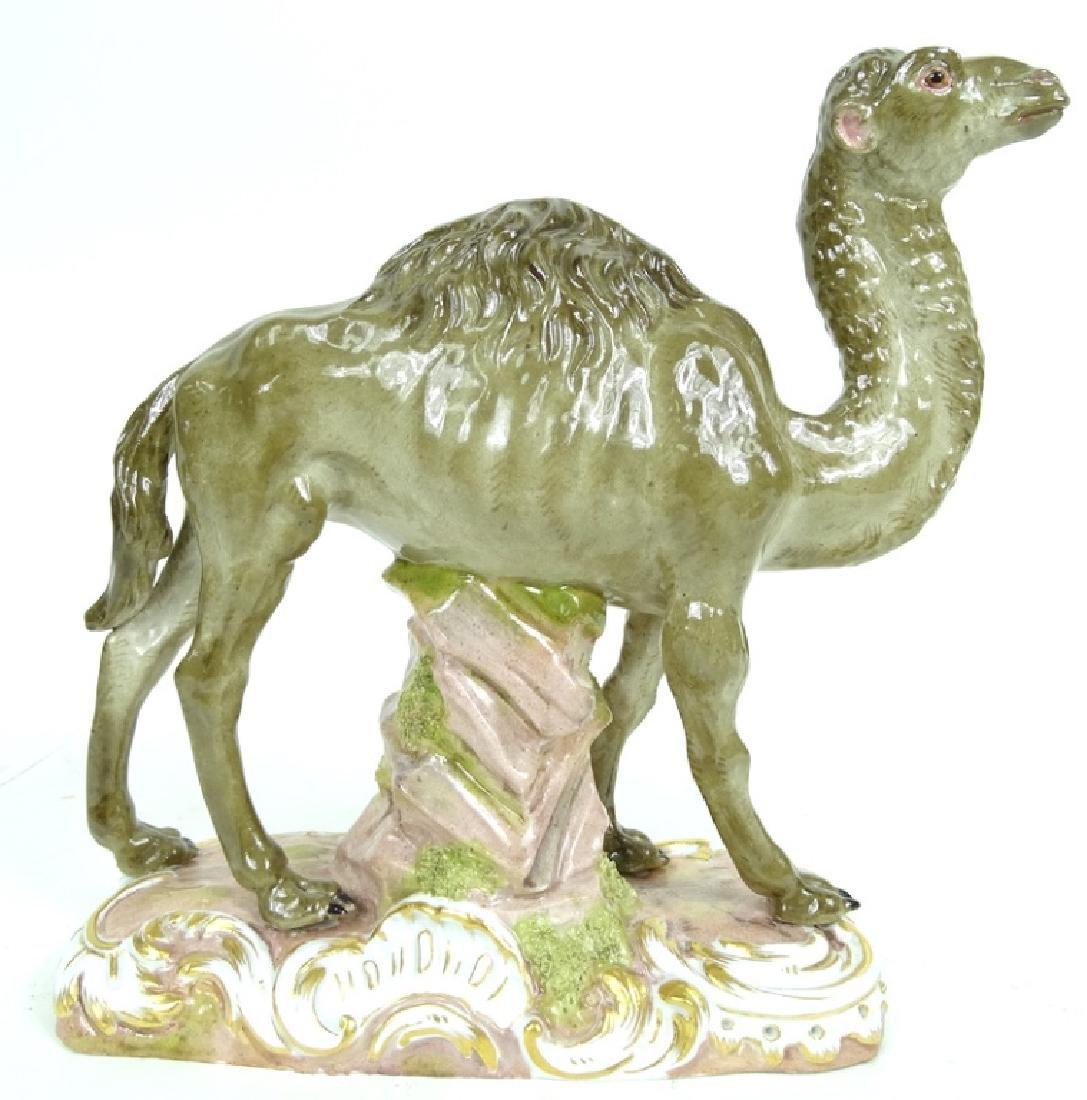 Antique Meissen HP Camel Porcelain Figurine
