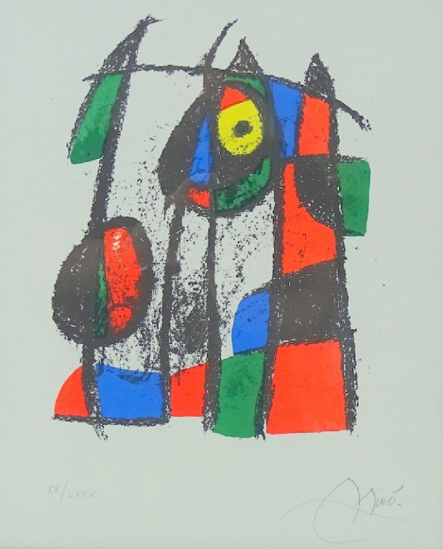 Joan Miro Original Framed Pencil Signed Lithograph