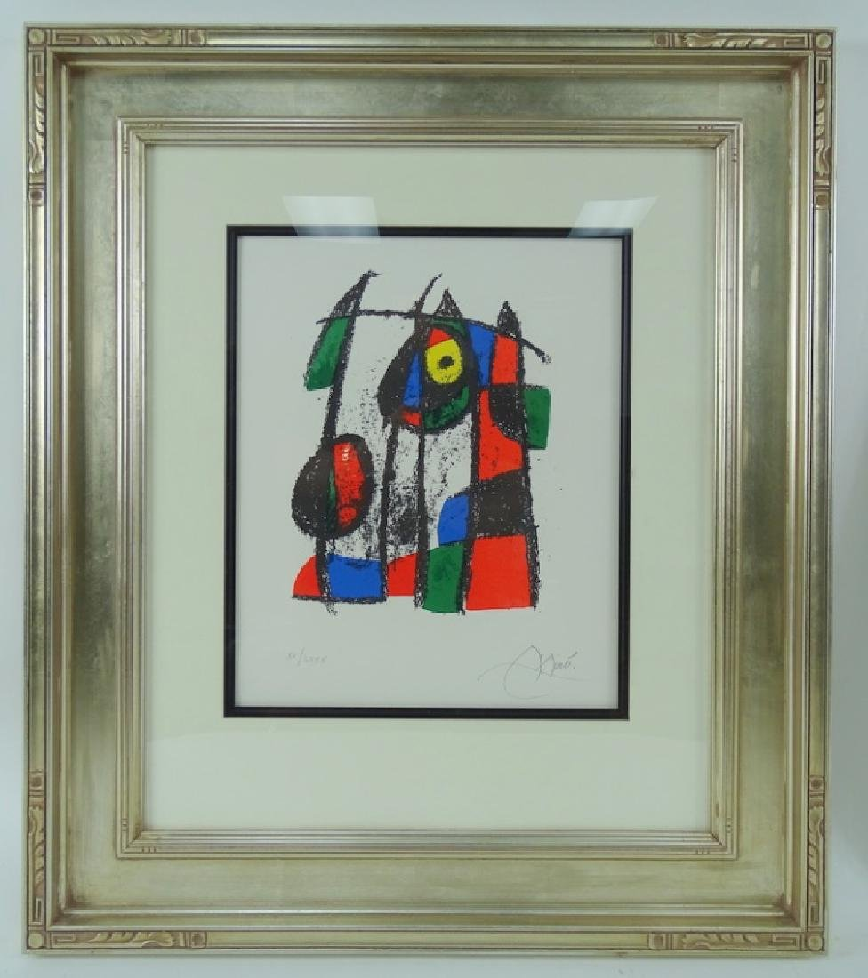 Joan Miro Original Framed Pencil Signed Lithograph - 2