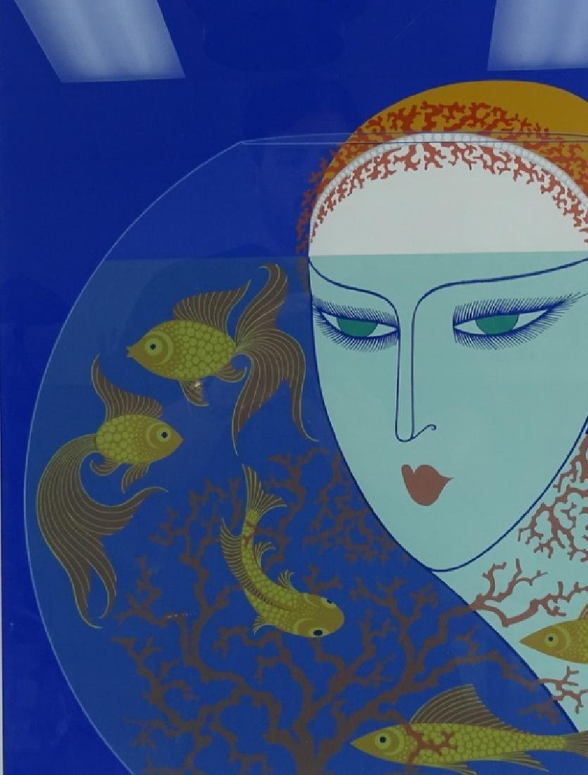 """Erte """"Fish Bowl"""" Limited Edition Signed Serigraph"""