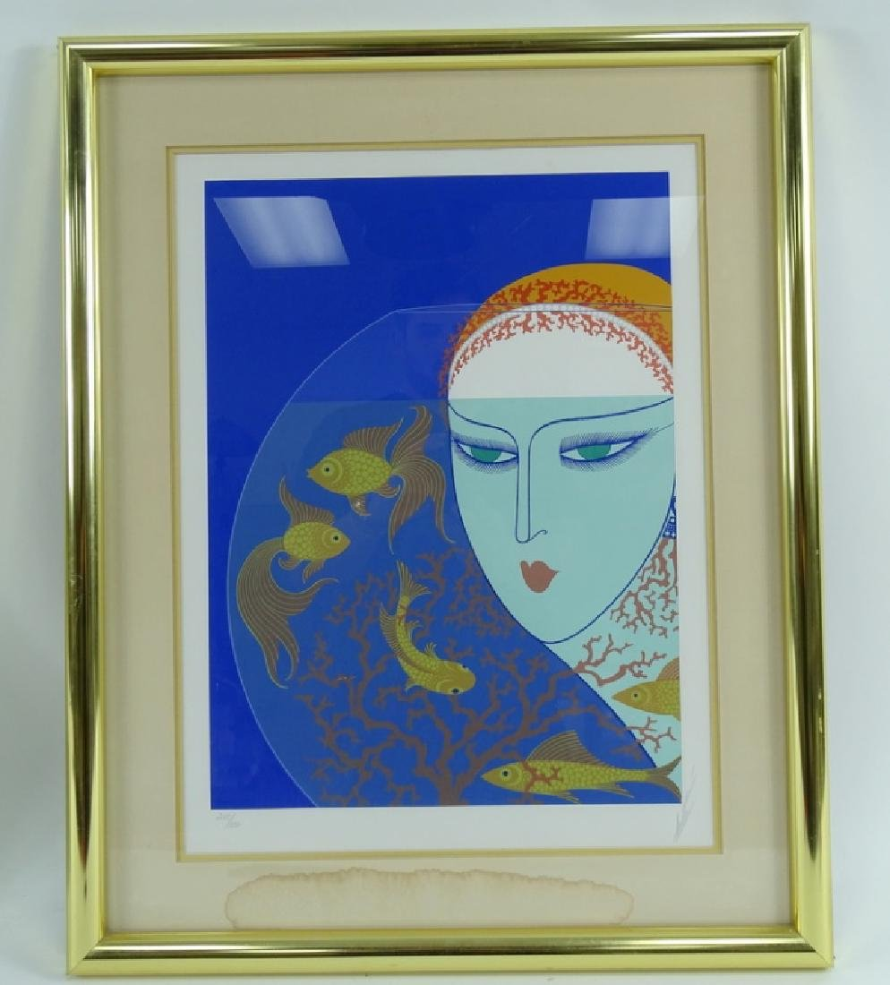 """Erte """"Fish Bowl"""" Limited Edition Signed Serigraph - 2"""