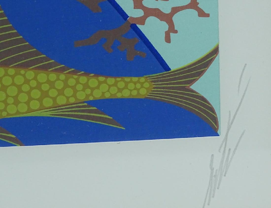 """Erte """"Fish Bowl"""" Limited Edition Signed Serigraph - 3"""