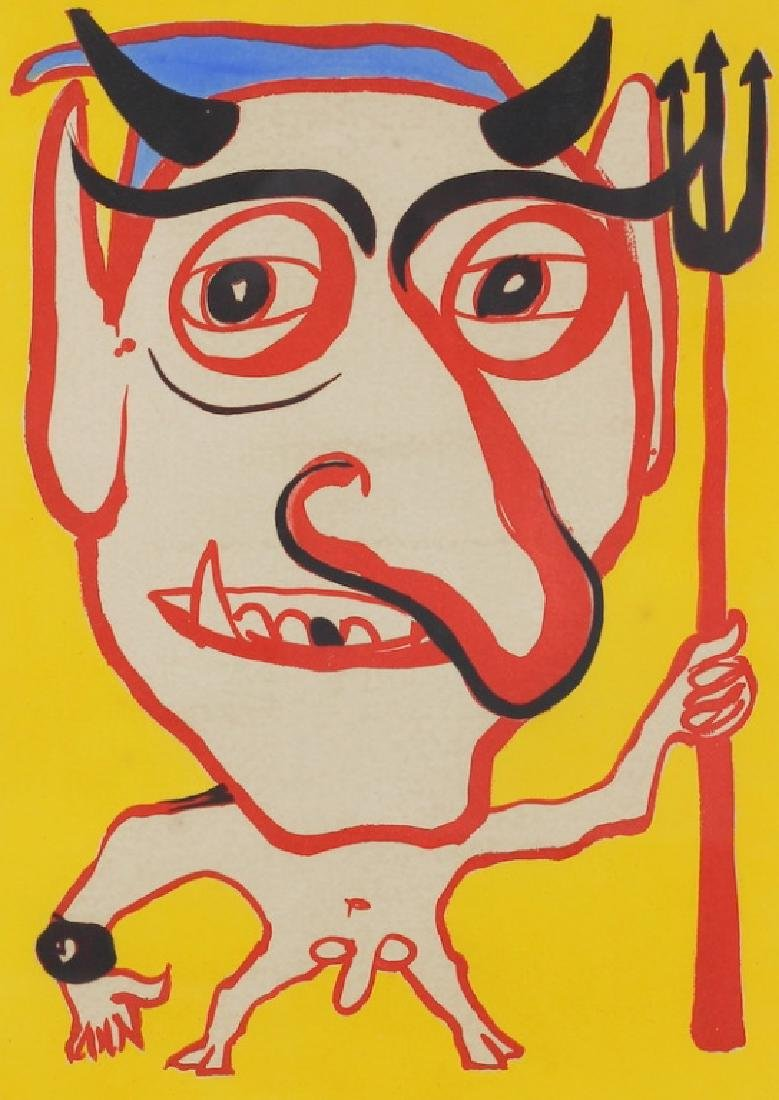 "Rare Alexander Calder ""Devil"" Color Lithograph"