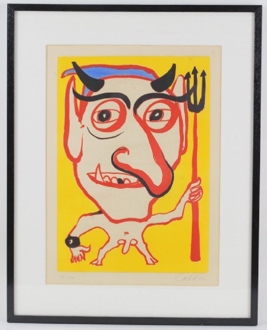 "Rare Alexander Calder ""Devil"" Color Lithograph - 2"