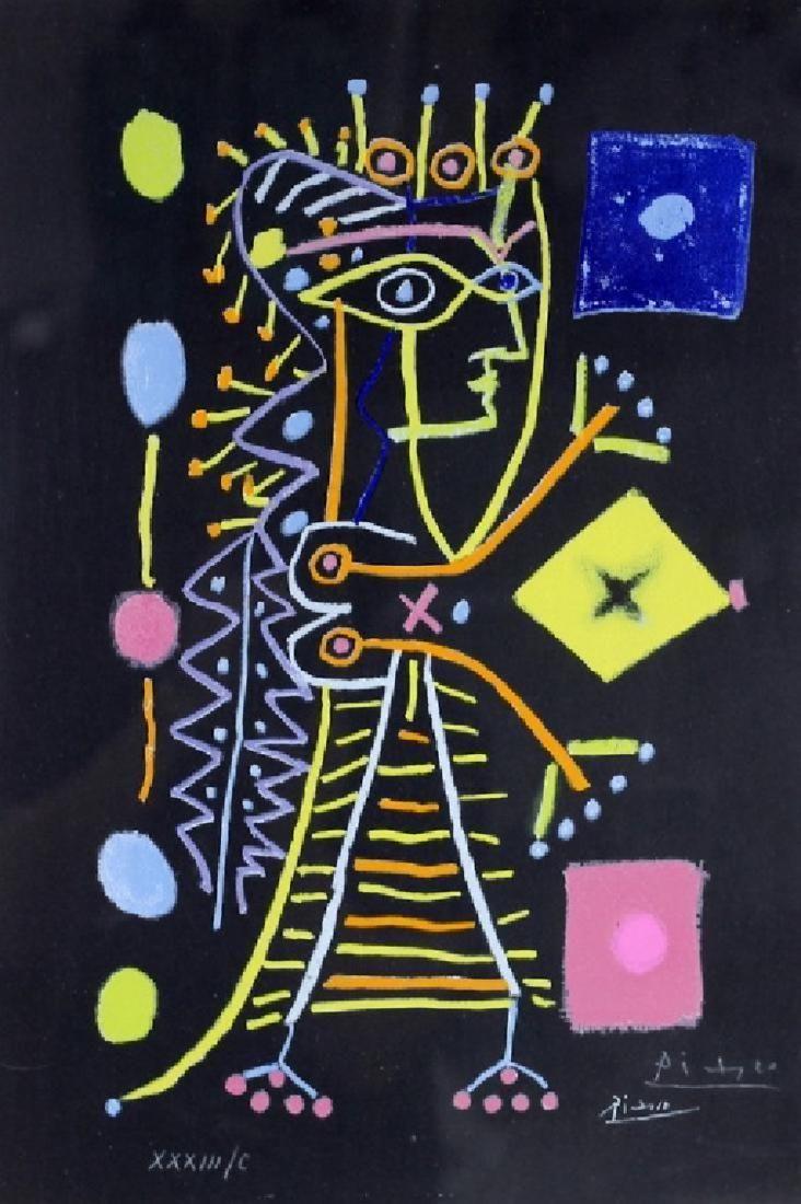 """Pablo Picasso """"Jacqueline, Le Femme Aux Des"""" Litho"""