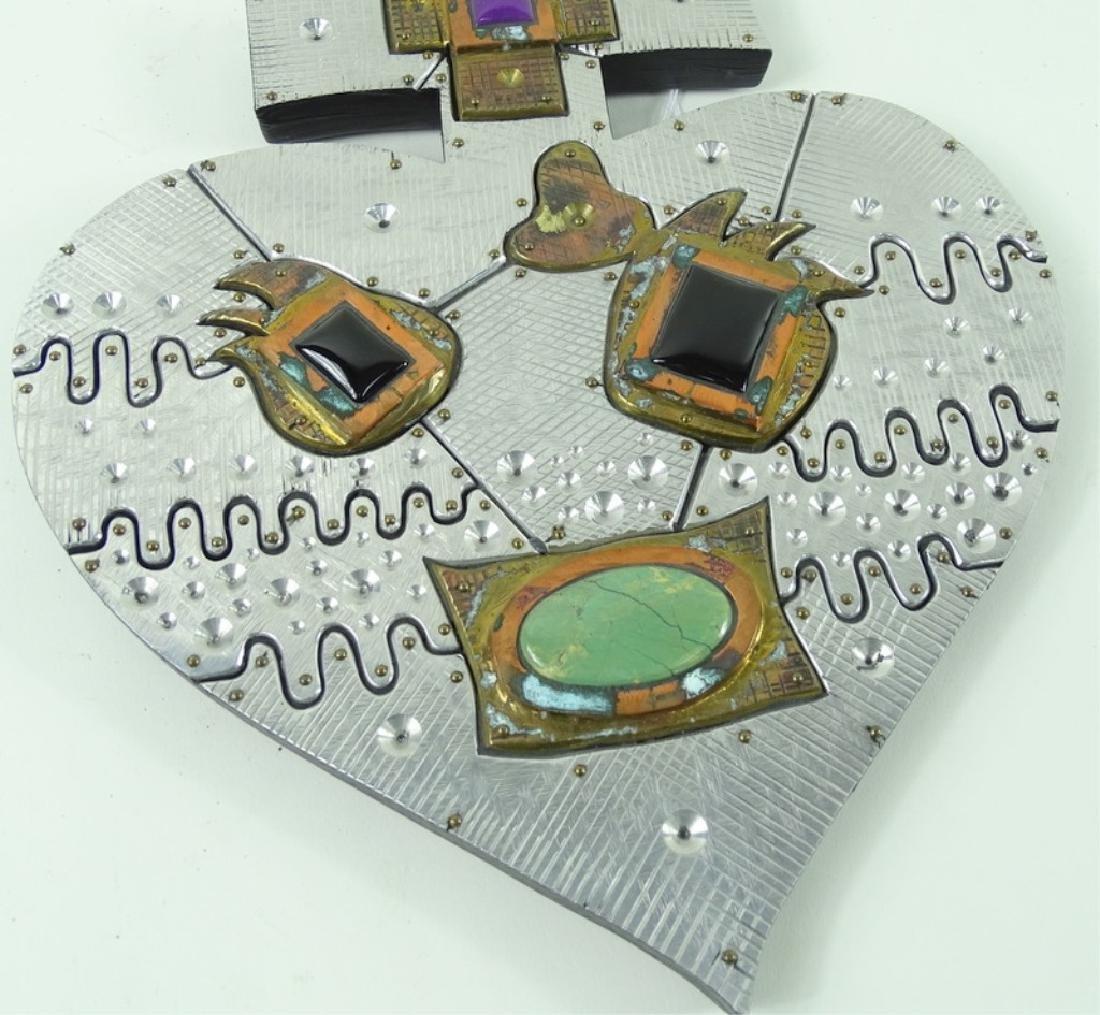 20th Century Signed Wheeler Cross Heart Sculptures - 3