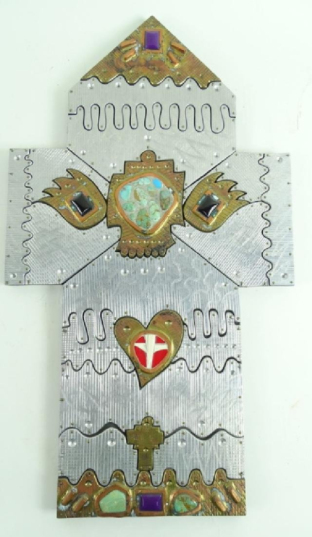 20th Century Signed Wheeler Cross Heart Sculptures - 5