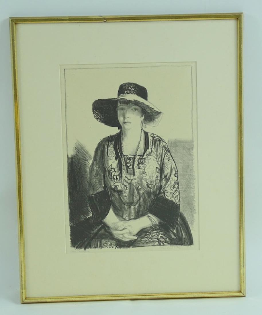 """George Bellows """"The Black Hat"""" Lithograph on Paper - 2"""