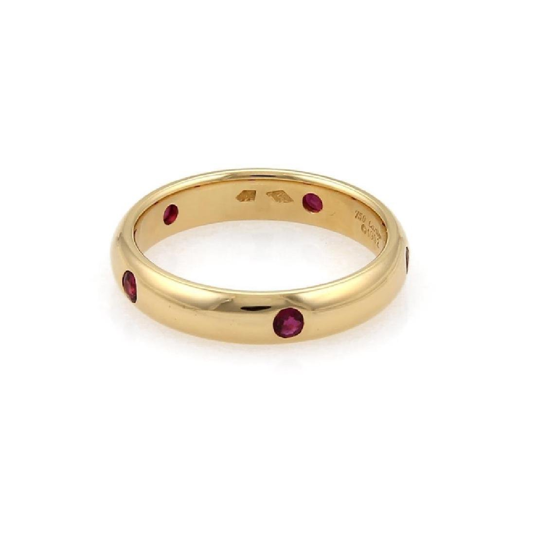 Cartier Stella Ruby 18k Yellow Gold Dome Ring