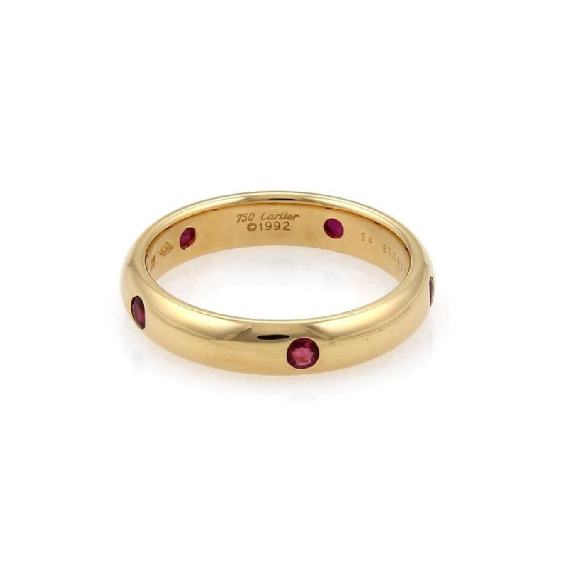 Cartier Stella Ruby 18k Yellow Gold Dome Ring - 2