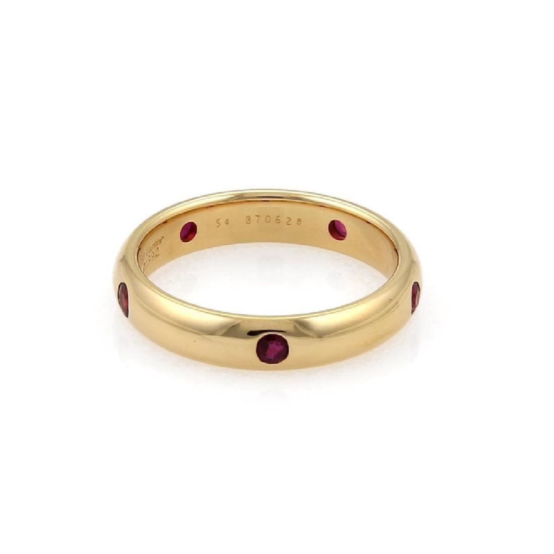 Cartier Stella Ruby 18k Yellow Gold Dome Ring - 4