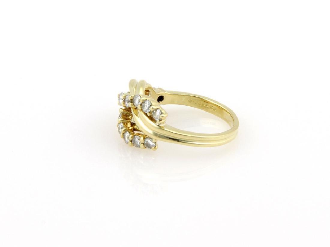 Jose Hess 18K Gold Diamond Knot Designer Ring - 3