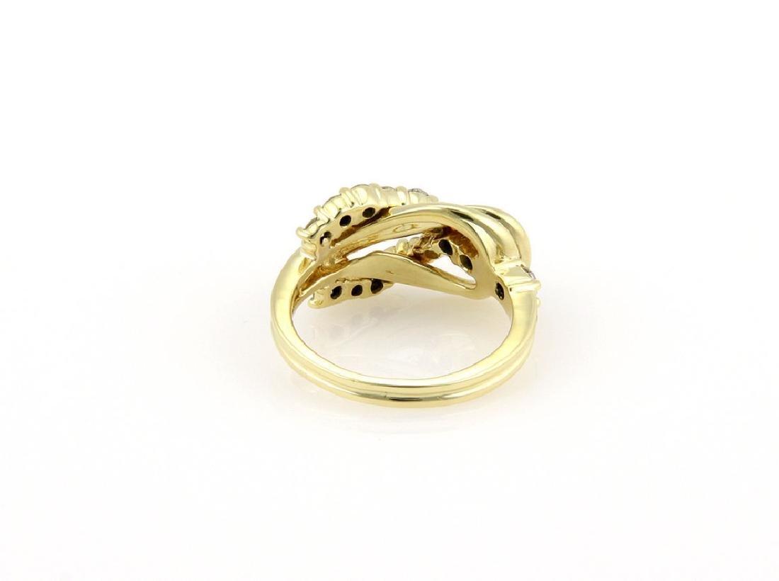 Jose Hess 18K Gold Diamond Knot Designer Ring - 4