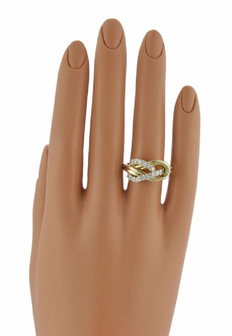 Jose Hess 18K Gold Diamond Knot Designer Ring - 5