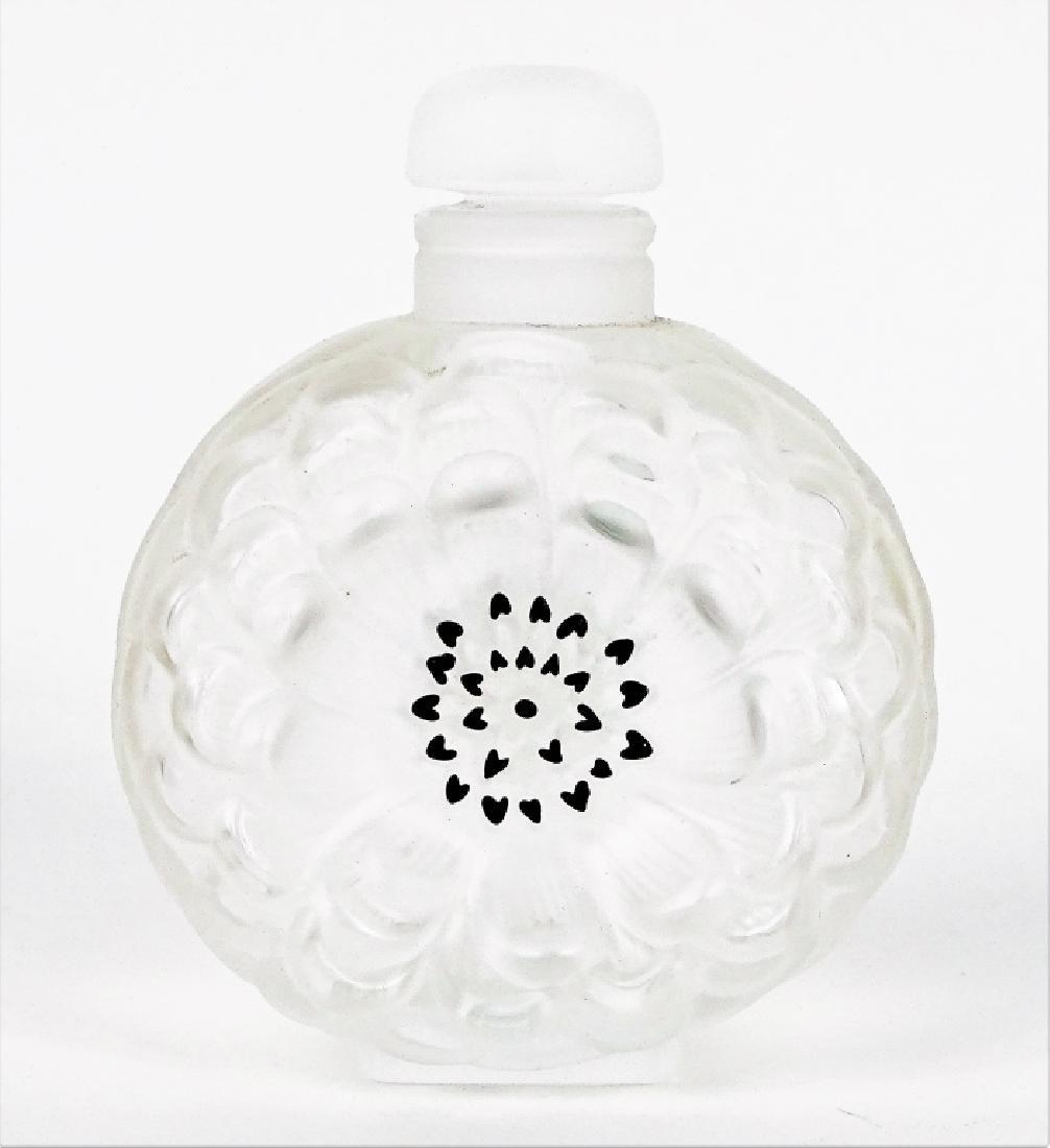 Lalique Dahlia No. 3 Enamel Crystal Perfume Bottle - 2