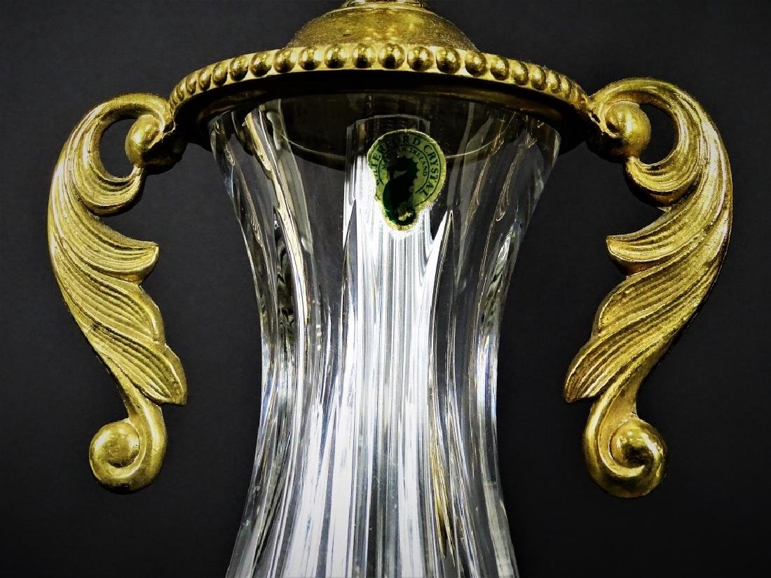 Pair of Waterford Cut Crystal & Brass Lamps - 5