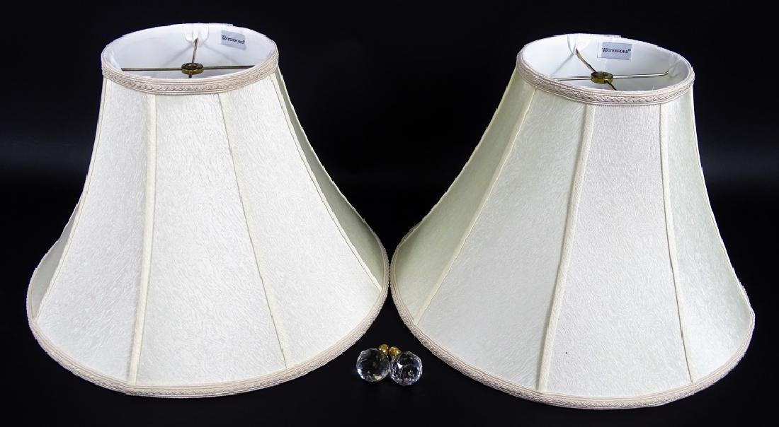 Pair of Waterford Cut Crystal & Brass Lamps - 7