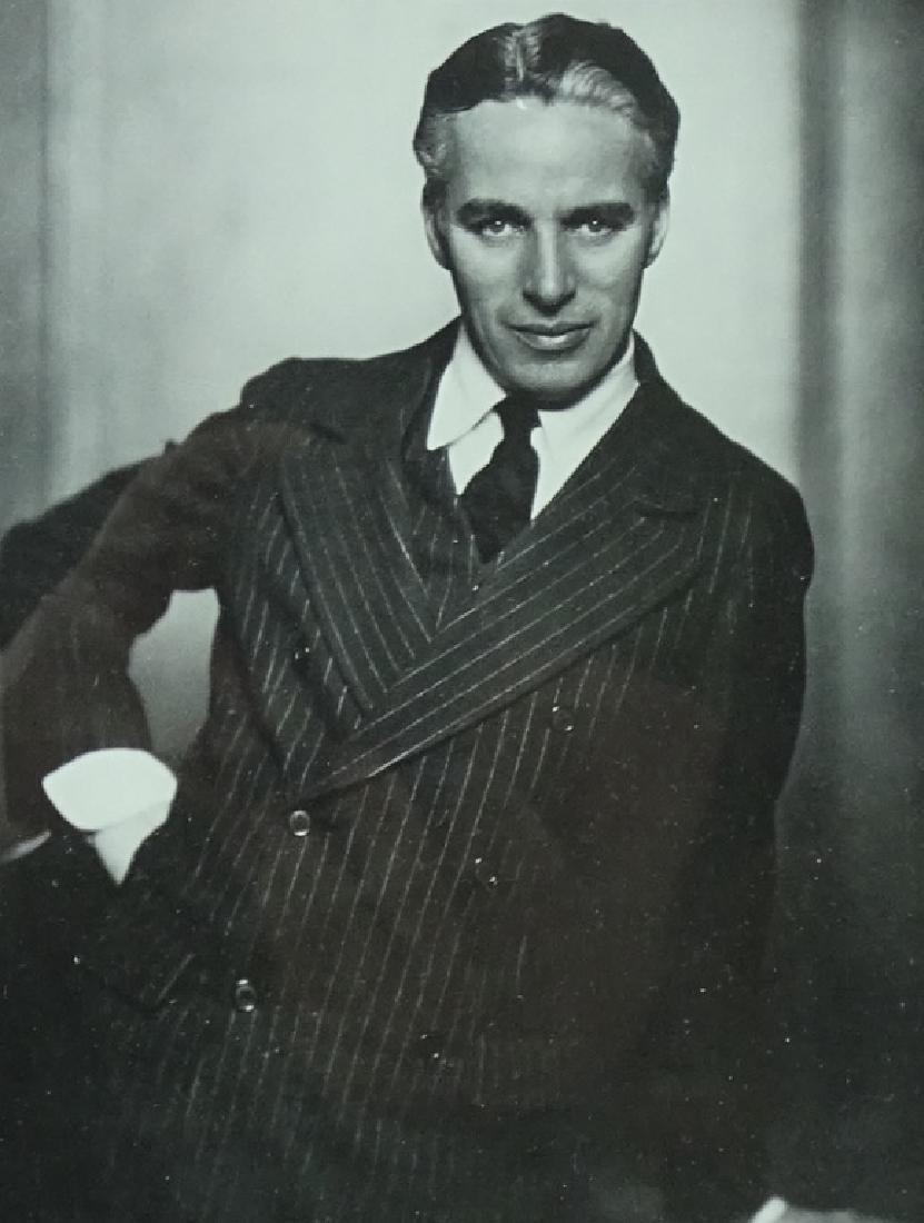 Charlie Chaplin Framed Hand Signed Photograph
